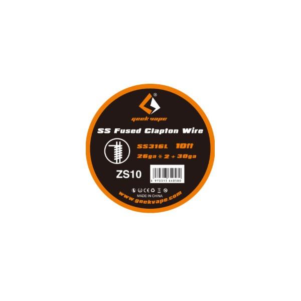 Elektronske cigarete DIY Geek Vape SS316L Fused Clapton žica za grejače 26ga x 2 + 30ga - 10ft