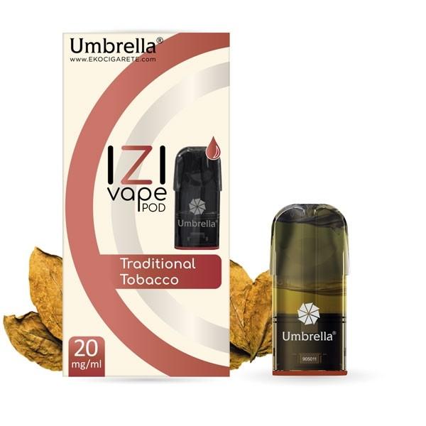 Elektronske cigarete IZI VAPE POD Umbrella Umbrella IZI POD Traditional Tobacco