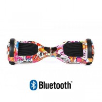 Hoverboard Modeli Koowheel Hoverboard S36 BlueTooth URBAN RED SKULL