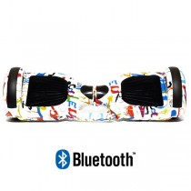 Hoverboard Modeli Koowheel Hoverboard S36 BlueTooth URBAN GRAFFITI WHITE