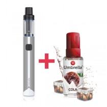 Elektronske cigarete Tečnosti Umbrella AIO Mini sivi + Umbrella Cola 30ml 0mg