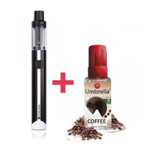 Elektronske cigarete Tečnosti Umbrella AIO Mini crni+ Umbrella Coffee 30ml 0mg