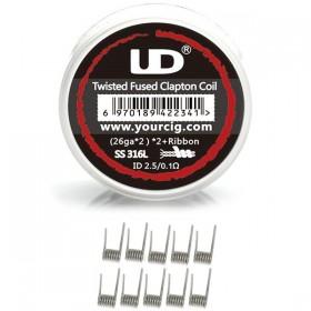 Elektronske cigarete DIY UD UD Twisted Fused Clapton Coil 0,1 ohm - 10 komada