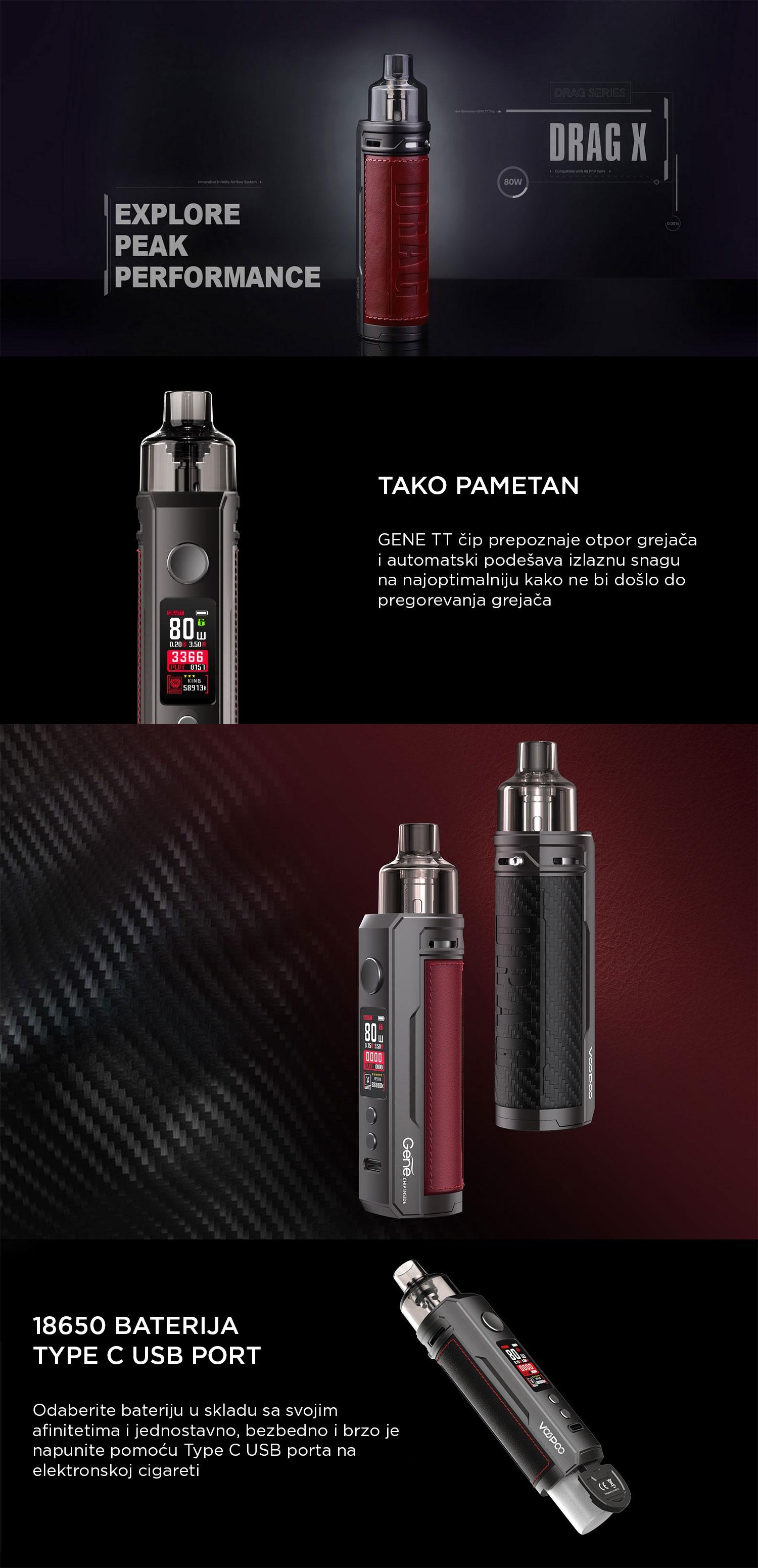 VooPoo Drag X POD MOD elektronska cigareta