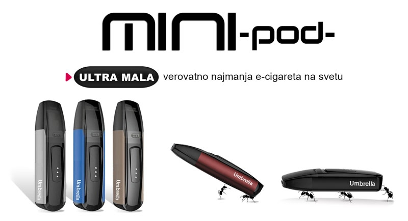 Umbrella MINI POD elektronske cigarete