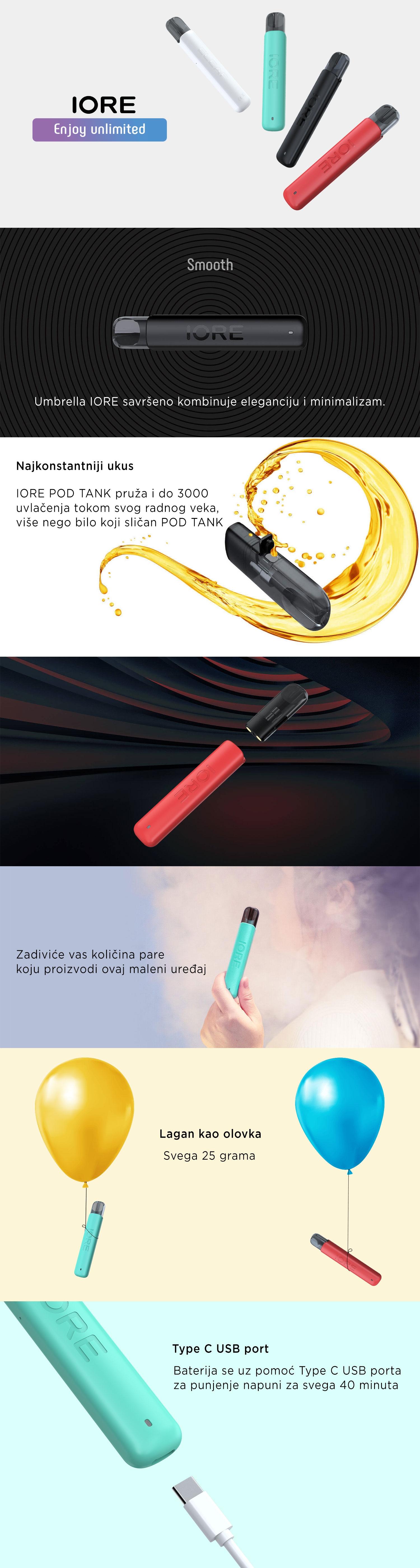 Umbrella IORE elektronska cigareta