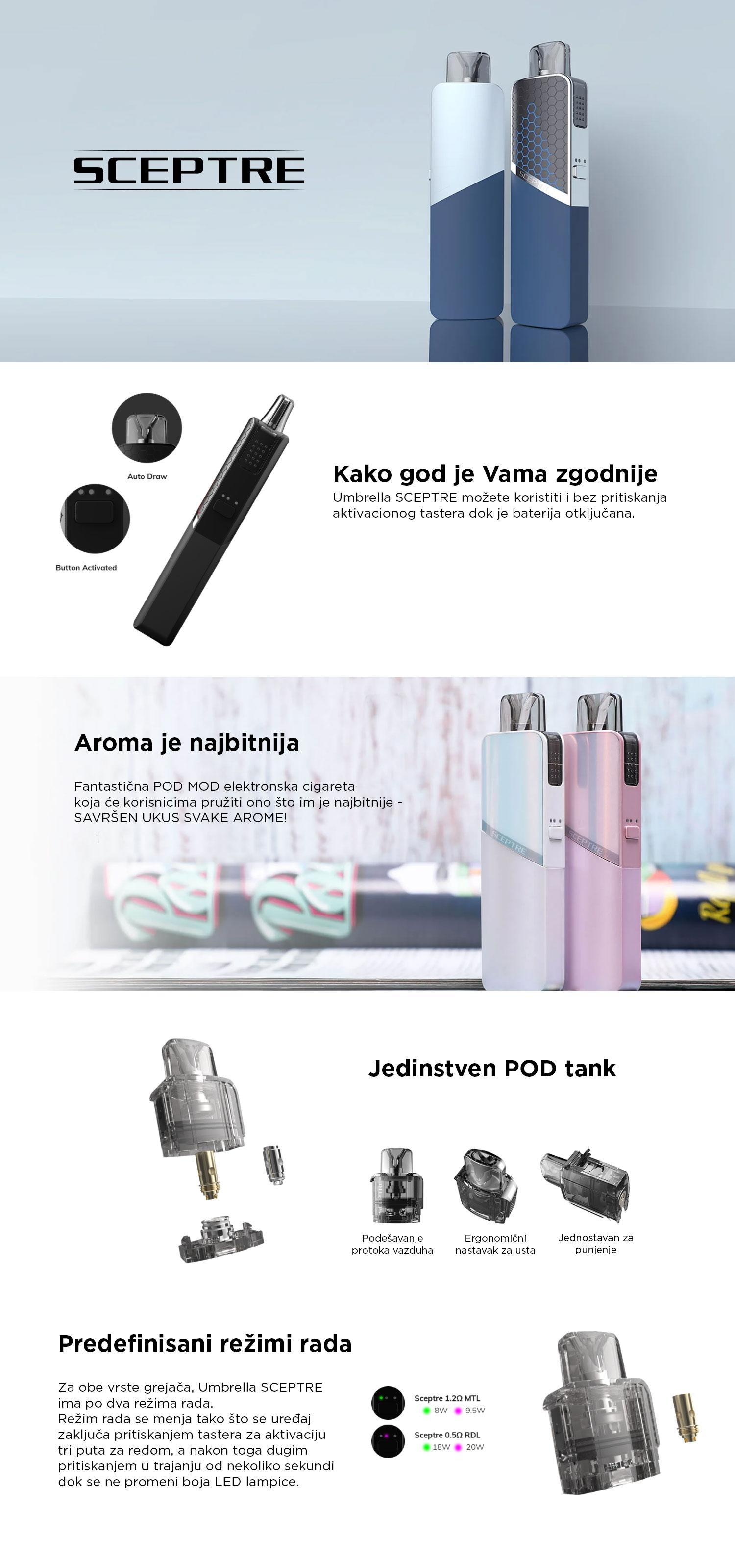 Umbrella Sceptre VAPE elektronska cigareta
