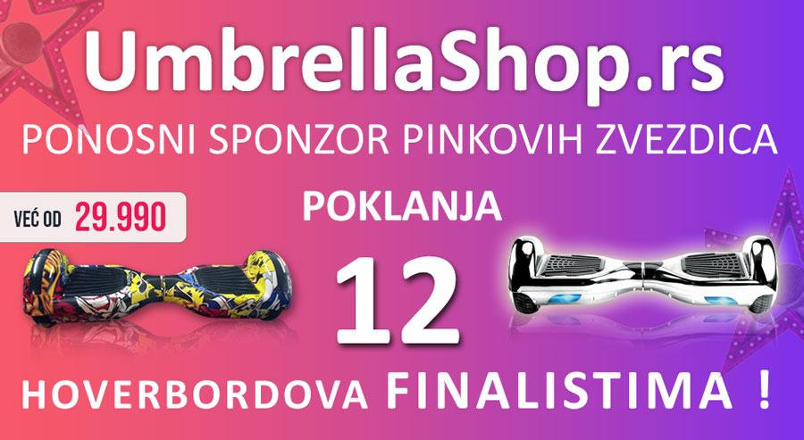 Umbrella Shop - ponosni sponzor Pinkovih Zvezdica
