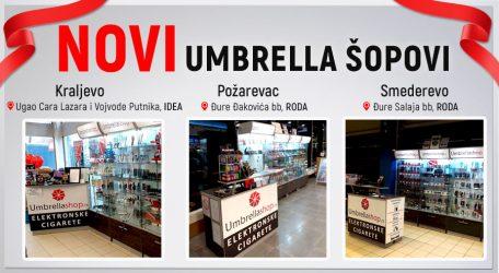 Novi Umbrella šopovi u Smederevu, Kraljevu i Požarevcu