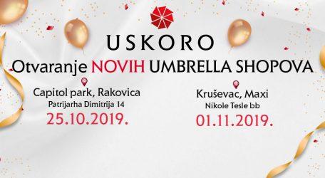 Umbrella na novim lokacijama!