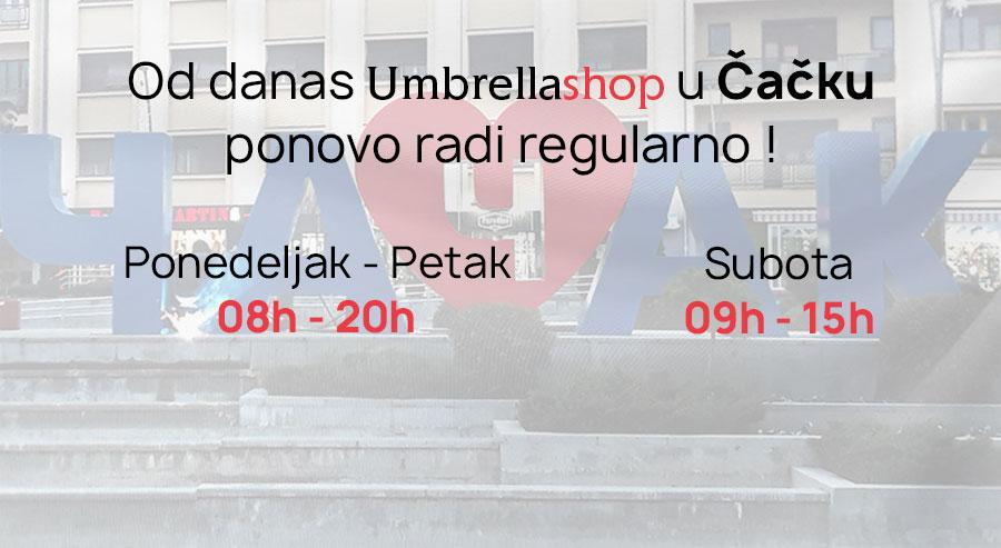 Umbrella Shop u Čačku ponovo radi!