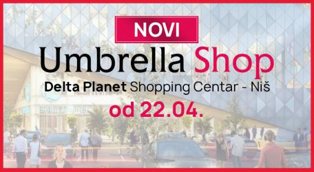 Novi Umbrella Shop u shopping centru Delta Planet Niš
